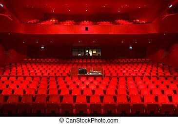 Theater interior - Interior of the Agora theater in...