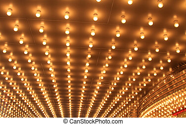 Theater lights at night