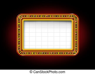 Theater Marquee Sign - Theater marquee blank neon lights...