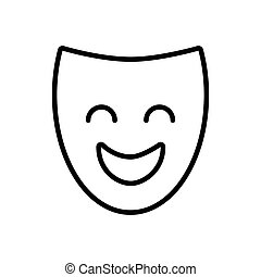 theater mask classic icon