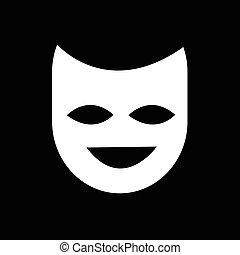 Theater mask icon illustration design