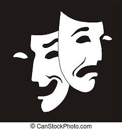 theater maskování