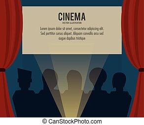 theater movie film icon. Vector graphic