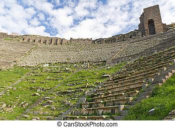 Theater Ruins in Pergamon, Turkey