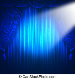 Theater spotlight  - curtain of a classical theater