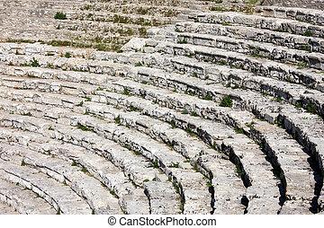 Theater - Theater of Magna Grecia, Valle dei Templi,...