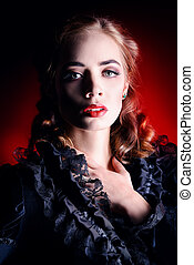 theatre actress - Portrait of a gorgeous vampire woman in ...