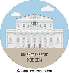 theatre., bolshoi, russia, mosca