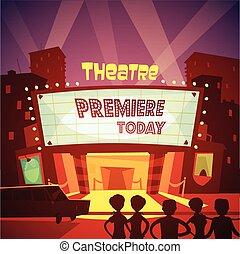Theatre Building Illustration