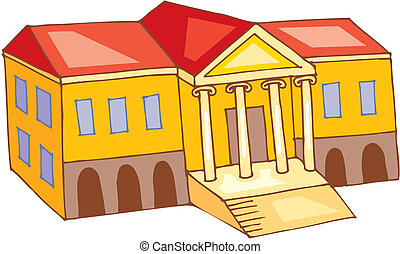 Theatre building.Vector