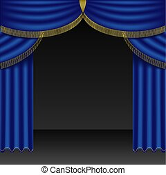 Theatre Courtains 03 - High detailed illustration.