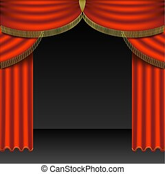Theatre Courtains 04 - High detailed illustration.