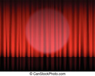 Theatre curtain red