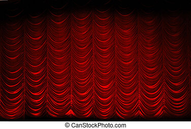 theatre curtain - red swag theatrre curtain