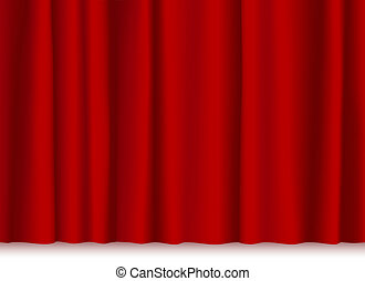 theatre curtain - illustration of a theatre stage red...