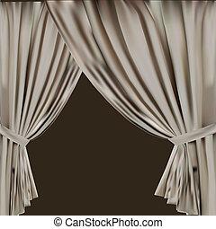 theatre curtain. vector illustration.