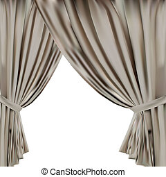 theatre curtain. vector illustration. 10eps. vector...