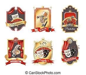 Theatre Emblems Set
