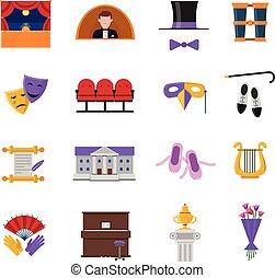 Theatre Icons Set