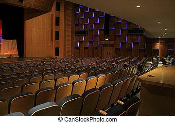 theatre interior - Night scene of the interior of a a...