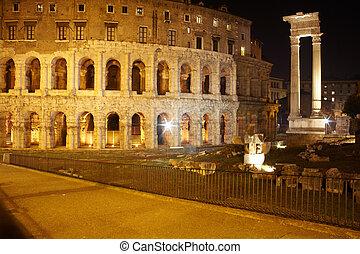 Theatre of Marcellus and Temple of Apollo Sosianus, Rome