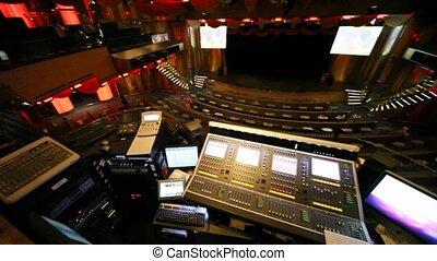 Theatre on three levels on Costa Deliziosa - the newest Costa cruise ship.