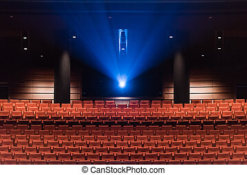 Theatre seats and cinematic projection - Comfortable theatre...