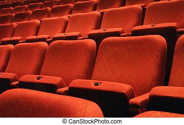 Theatre Seats - Rows of theatre seats