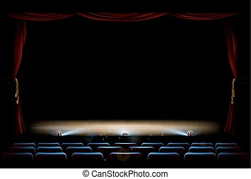 Theatre Stage and Curtains