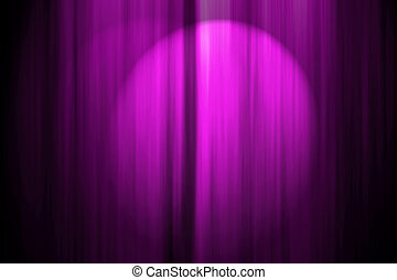 Theatre Stage Curtain - Computer generated illustation of a...