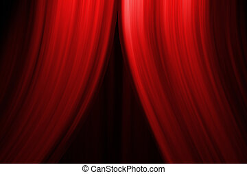 Theatre Stage Curtain - Computer generated illustation of a ...