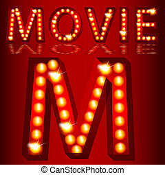 Theatrical Lights Movie Text - An image of a theatrical ...