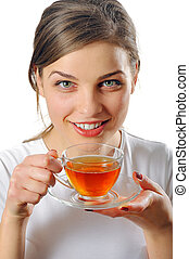 thee, vrouw, kop