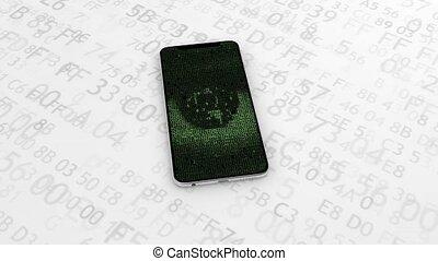 theft., 41., virus., espion, montre, hacher, infected, spyware, hacker., identité, téléphone