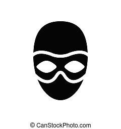 theft glyph flat icon