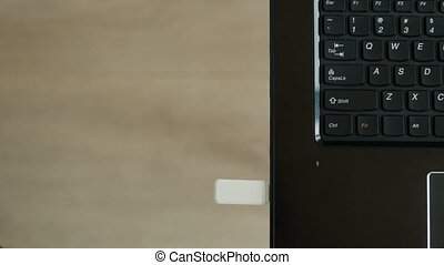 theft of corporate data into flash drive from laptop, trade...