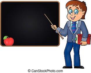 thema, 2, leraar, beeld, man