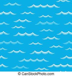 thema, 2, seamless, achtergrond, golven