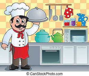 thema, 3, beeld, keuken