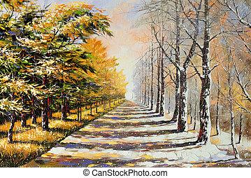 thema, allegorie, winter-autumn