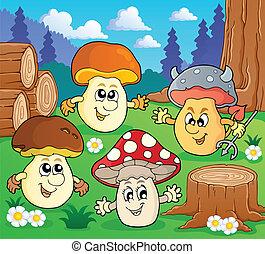 thema, beeld, paddenstoel, 3
