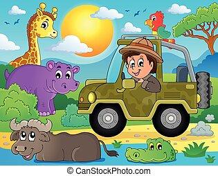 thema, beeld, safari