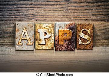 thema, begriff, apps, briefkopierpresse