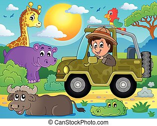 thema, bild, safari