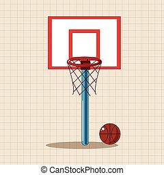 thema, communie, versieren, eps, basketbal, school, vector