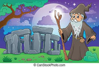 thema, druid, beeld, 3