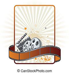 thema, film, film, streifen, element