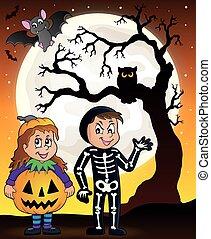 thema, halloween, kostüme