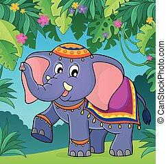 thema, indischer elefant