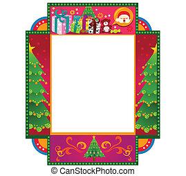 thema, kerstmis, frame